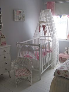 Babykamer on pinterest baby bedroom white nursery and nurseries - Deco slaapkamer baby meisje ...