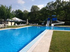 Pool at Camping Parco della Piscine, Sarteano, Tuscany, Italy