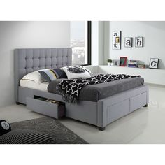 22 Best Queen Platform Bed Frame with Storage Choice for Your Bedroom - Home and Gardens  sc 1 st  Pinterest & Georgia King Bed Frame with Storage Drawers - Products - 1825 ...
