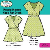 Mommy and Me - Easy Mock Wrap dress - via @Craftsy