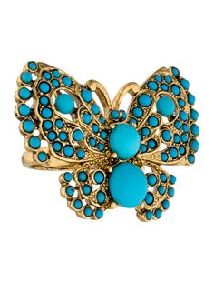Kenneth Jay Lane Butterfly Cocktail Ring - Jewelry - WKE21413 | The RealReal