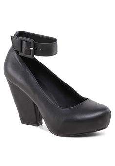 6522b627499 Great Product Chunky Heel Pump With Ankle Strap in ZaloraMALAYSIA SKU   EZ007SH55LDSMY Chunky Heel Pumps
