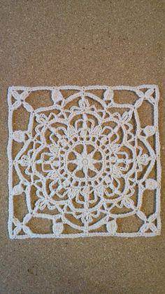 Crochet Motif Patterns, Crochet Mandala, Crochet Squares, Crochet Granny, Crochet Doilies, Crochet Lace, Free Crochet, Turkish Tiles, Lace Design
