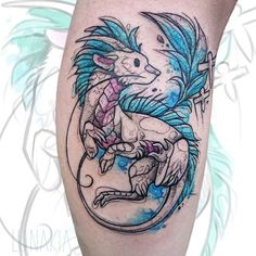 """Lunakia Tattoo auf Instagram: """"🌿🌸Mini Haku🌸 🌿 Art: @lunakia_art . Dieser kleine Haku war ein Wannado von mir ☺️ Im Vergleich zur Skizze sieht man total, dass ich mich…"""" Tattoo On, Watercolor Tattoo, Mini, Instagram, Sketches, Temp Tattoo"""