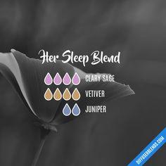 Blend Recipe: 4 drops Clary Sage, 4 drops Vetiver, 2 drops Juniper