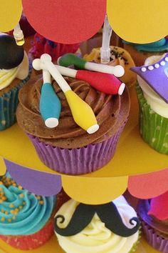 Bright & Festive Circus Cupcake Tower Wedding Cake (BridesMagazine.co.uk)