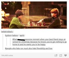 Guys... Ron stayed at school because his parents took a sudden trip to Romania. Get over yourselves.