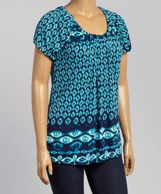 Look what I found on #zulily! Blue Diamond Top - Plus #zulilyfinds