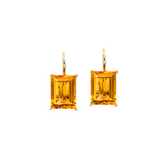 Vogue.com - The Most Coveted Jewelry Under $1,500! Extra-Special Bijoux to Gift for the Holidays: Jane Taylor citrine baguette drop earrings, $870 janetaylor.com