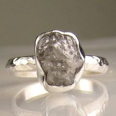 Rough Diamond Ring. I've never seen an uncut diamond!