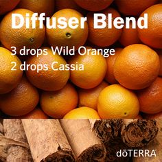 This spicy and refreshing diffuser blend is perfect for Fall. #doterradiffuserrecipes