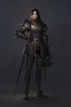 Fantasy Female Warrior, Female Armor, Female Knight, Fantasy Armor, Fantasy Women, Woman Warrior, Aasimar Paladin Female, Dungeons And Dragons Characters, Dnd Characters