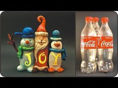 ❣DIY Christmas JOY Sign Using Coke Plastic Bottles❣ Use Santa's hat technique for tops of twisted trees. Noel Christmas, Christmas Signs, Christmas Ornaments, Yard Ornaments, Plastic Bottle Crafts, Recycle Plastic Bottles, Recycled Bottles, Deco Ballon, Joy Sign