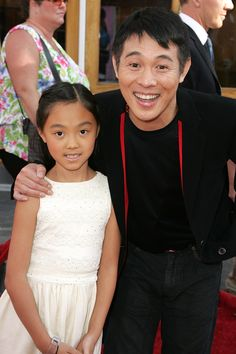 Jet Li with his daughter Jane