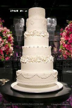 bolos cenográficos para casamento com flores - Google Search