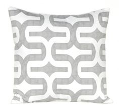 Stunning grey and white geometric cushion cover - hardtofind.