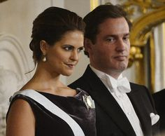 Princess Madeleine and Christopher O'Neill at a formal gathering of the Swedish Academy earlier this week