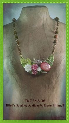 Spring necklace for March challenge by Karen Mansell  Mimi's Beading Boutique 3/18/16