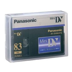 Panasonic AY-DVM83PQ Professional Mini DV Tape 83min (Single Tape)  Magnetic density improvement by 400% over previous Panasonic MiniDV models.  The Hyper Molecular Binder-Polymerized Lubricant gives:  Higher recording density, Track compatability  Lower error rates even in severe conditions  Maximum durability and storage with Double Rib case and Anti-static lid that repels dirt inspite of long term storage.