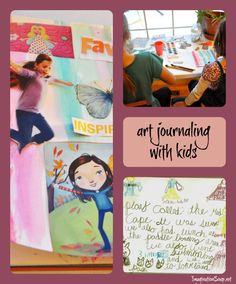 art journaling with kids -- great activity for reluctant writers and artistic kids