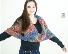 Oversized Infinity Shawl....Multi colored by nouveauvintageltd featured in Temp Team Treasury  https://www.etsy.com/treasury/MzEwNDY3MDV8MjcyNDc2NTI2MQ/temp-team-treasury