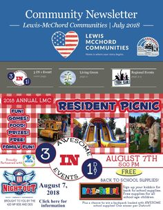 July 2018 Lewis-McChord Communities Resident Newsletter