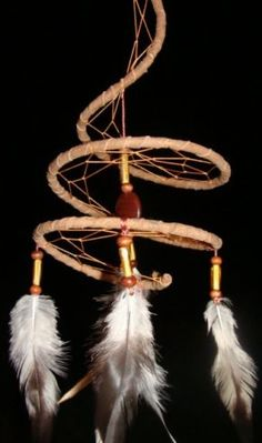 Spiral Dreamcatcher. Want to know what form they used!