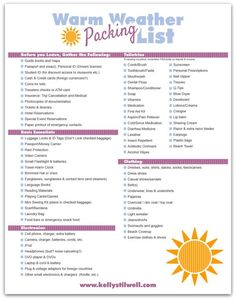 6 Tips For Vacation Packing Free Printable Lists