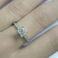 100 carats Princess Cut Diamond Engagement Ring 14k by ldiamonds