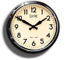 1950's 'Electric' Schoolhouse Clock   Chrome Gloss