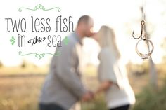 """JESUS. Someone actually wrote this on their save the date... You would think that this would be something that they would take the time to proofread! People, it's """"FEWER"""" fish in the sea."""