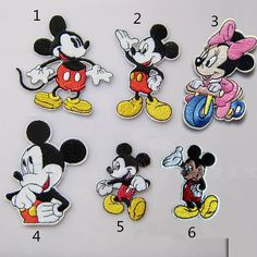 New to craftapplique on Etsy: Disney Mickey mouse & Minnie mouse  kids bag clothing patch Children patch embroidery patch embroidered iron on patch sew on patch   (A25) (2.30 USD)
