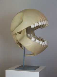 Pac Man's skull! Made by French artist, Gentil Garcon.