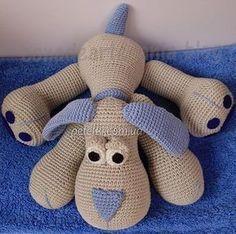 Petelki.com.ua » Вязаные игрушки и сувениры » Забавная собачка крючком. Описание вязания Информация к новости Забавная собачка крючком. Описание вязания