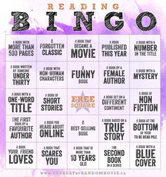 Reading Bingo Card