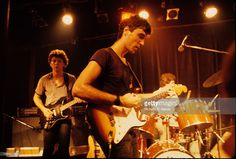 Talking Heads perform live on stage in New York in 1977 L-R Jerry Harrison…