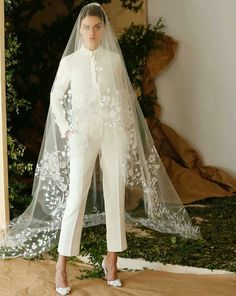 Interesting idea...but the pants should be long just like the dresses and veils are long.