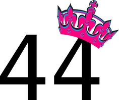 Pink Tilted Tiara And Number 44