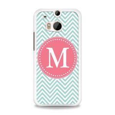 M Pink and Cyan HTC One M8 Case   yukitacase.com