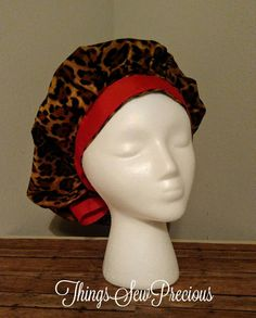 Check out this item in my Etsy shop https://www.etsy.com/listing/512786775/scrub-cap-cheetah-bouffant-style-red