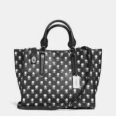 CROSBY CARRYALL IN PRINTED CROSSGRAIN LEATHER