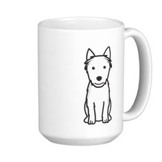 Australian Terrier Dog Cartoon Coffee Mugs