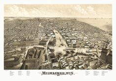 Vintage Map of Milwaukee Wisconsin 1879 Milwaukee County