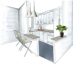 Afficher l'image d'origine Drawing Interior, Interior Sketch, Architect Logo, Architect House, Famous Architects, House Drawing, Inside Design, Deco Design, Home Staging