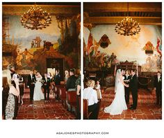 Los poblanos winter wedding maura jane photography for Mural room santa barbara courthouse