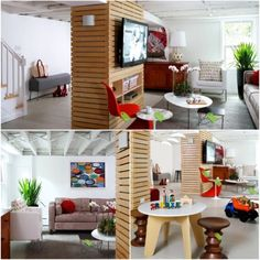 30 Basement Remodeling Ideas This might be a cool way to use the support poles a. - 30 Basement Remodeling Ideas This might be a cool way to use the support poles as a frame for a bui - Exposed Basement Ceiling, Basement Walls, Basement Bedrooms, Basement Ideas, Open Ceiling, Basement Bathroom, Gray Basement, Basement Inspiration, White Ceiling