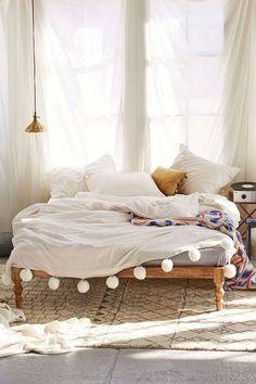 pom pom bed spread