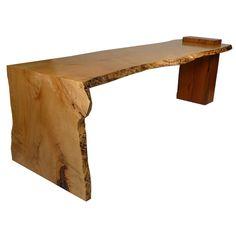 via BKLYN contessa :: hardwood slab raw edge + waterfall edge [idea for kitchen for peninsula : oiled + waxed finish] #modernsPIN