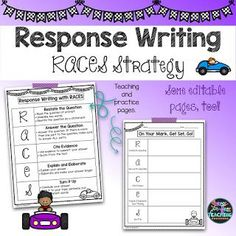 Stress-Free Teaching: How to Write Amazing Reading Responses with RACES