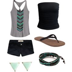 summer outfit, created by a-varney on Polyvore